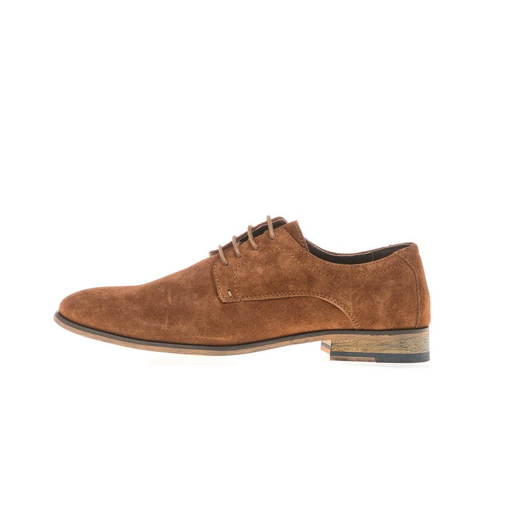 FUNKY BUDDHA - Ανδρικά δετά παπούτσια FUNKY BUDDHA καφέ ανδρικά παπούτσια δετά επίσημα