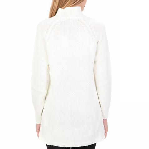 cc69017b0819 Γυναικείο πουλόβερ με ζιβάγκο FUNKY BUDDHA λευκό (1712205.0-9000 ...