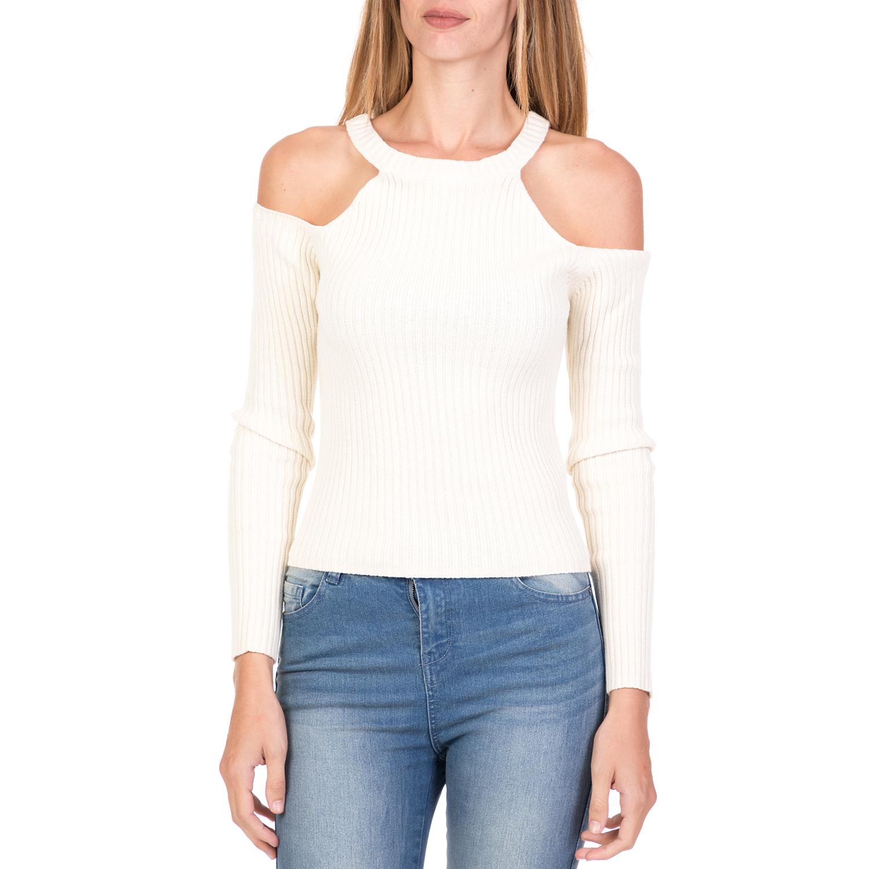 89e61fcce8dc FUNKY BUDDHA – Γυναικεία off the shoulders μπλούζα FUNKY BUDDHA ροζ λευκή
