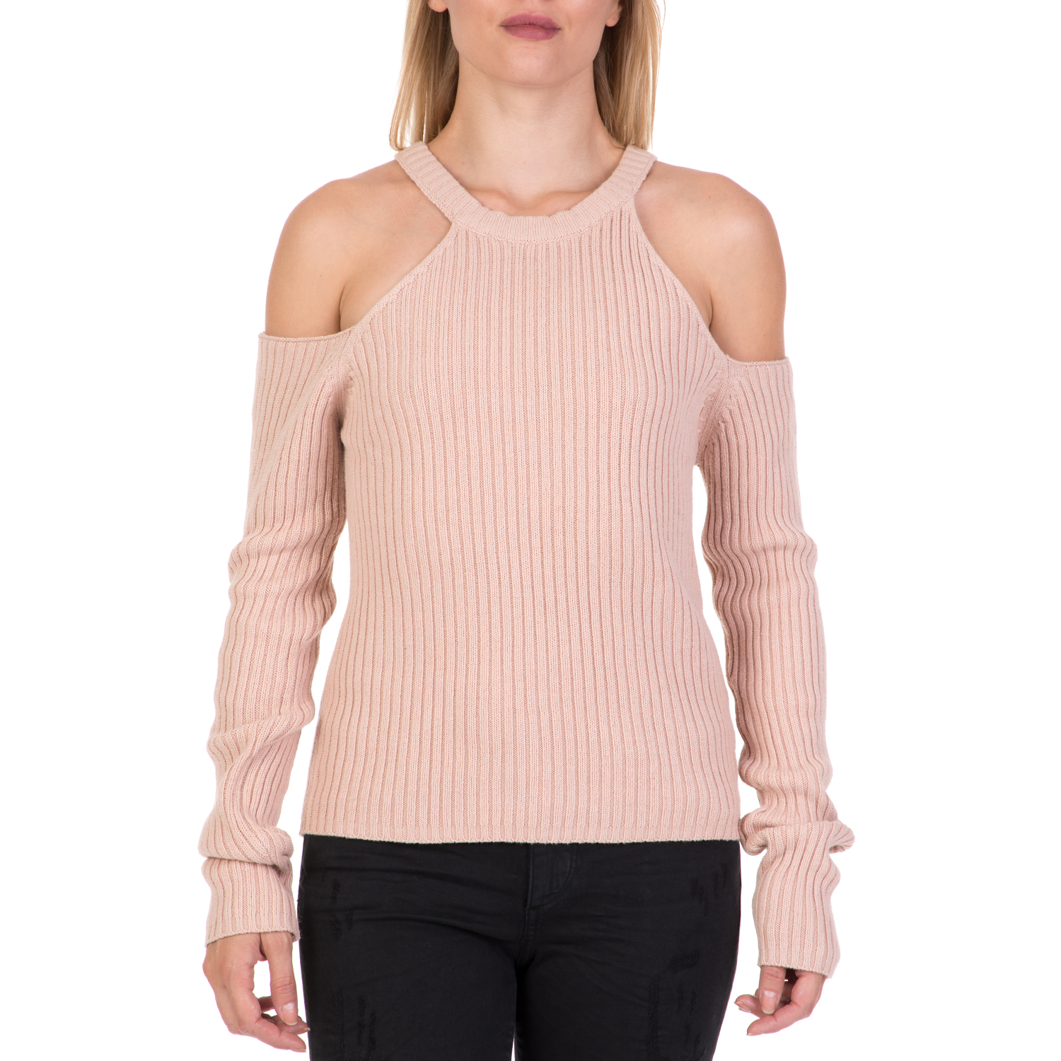 aaf48877bfb4 FUNKY BUDDHA – Γυναικεία off the shoulders μπλούζα FUNKY BUDDHA ροζ. Factory  Outlet