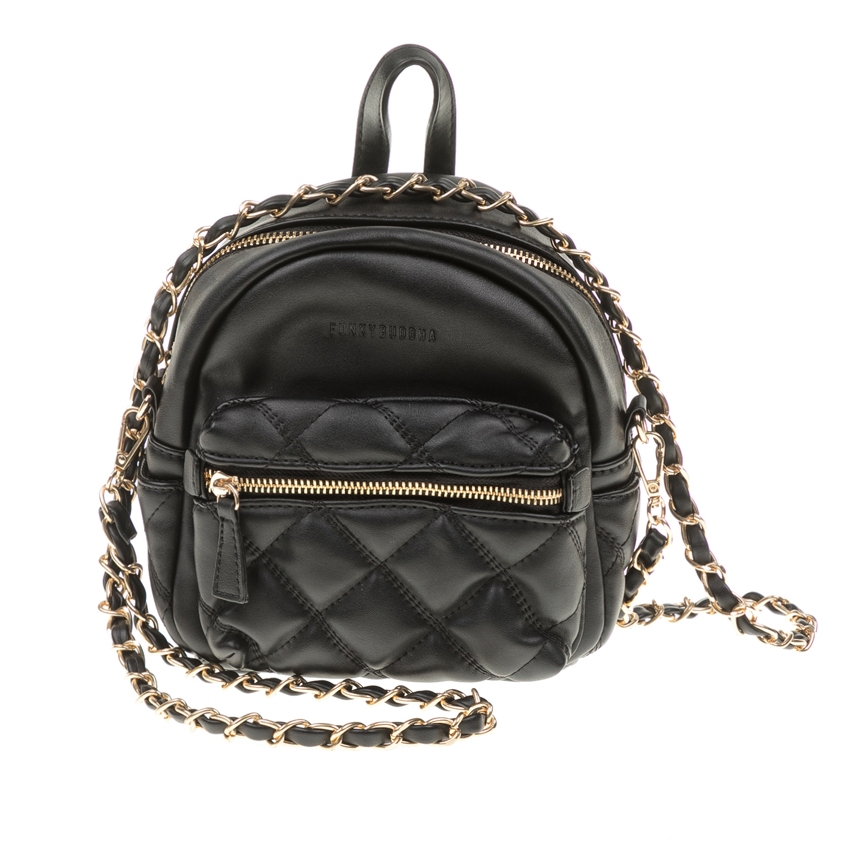 4cb5e20a269d -38% FUNKY BUDDHA – Γυναικεία τσάντα πλάτης mini FUNKY BUDDHA μαύρη