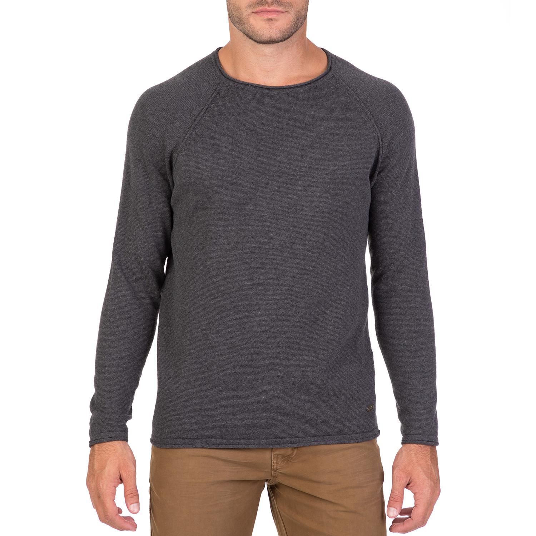 FUNKY BUDDHA – Ανδρική πλεκτή μπλούζα FUNKY BUDDHA γκρι 1712250.0-G100 e93c47d0e12
