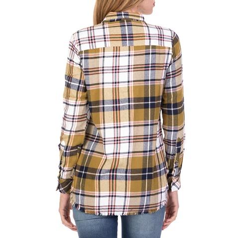 9c29370943ba Γυναικείο καρό πουκάμισο FUNKY BUDDHA πράσινο (1712260.0-6300 ...