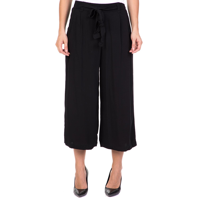 FUNKY BUDDHA - Γυναικεία ζιπ κιλότ παντελόνα FUNKY BUDDHA μαύρη γυναικεία ρούχα παντελόνια cropped