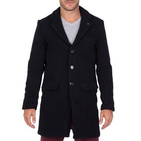 f0c4325a3ed3 FUNKY BUDDHA. Ανδρικό παλτό FUNKY BUDDHA μπλε σκούρο