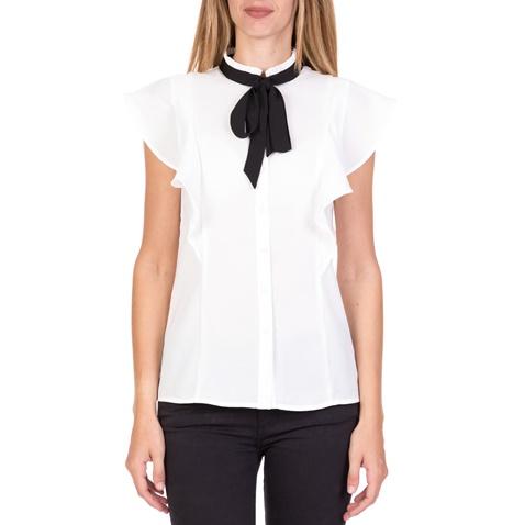 361e1418fb5e Γυναικείο αμάνικο πουκάμισο με βολάν FUNKY BUDDHA λευκό (1712302.0-9100)