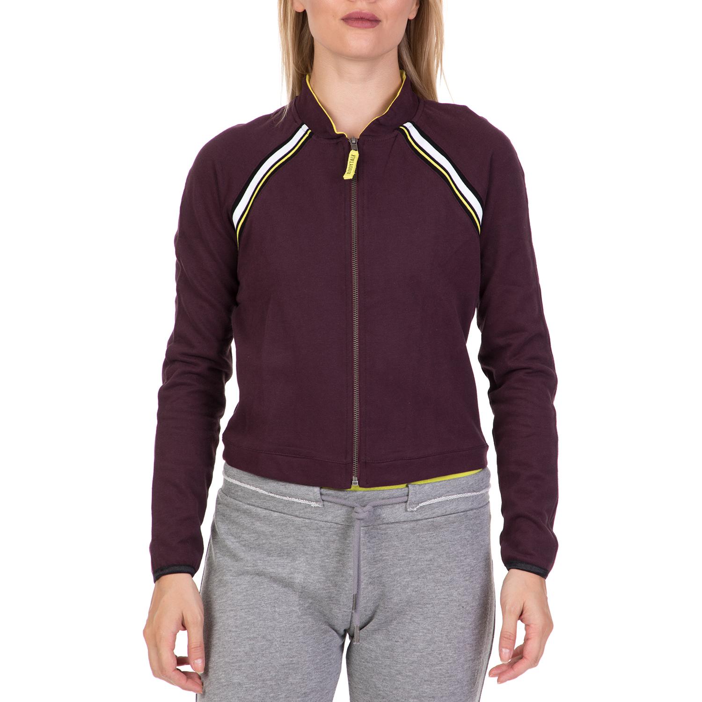 BODYTALK - Γυναικεία φούτερ ζακέτα POSITIVEW μοβ γυναικεία ρούχα φούτερ ζακέτες