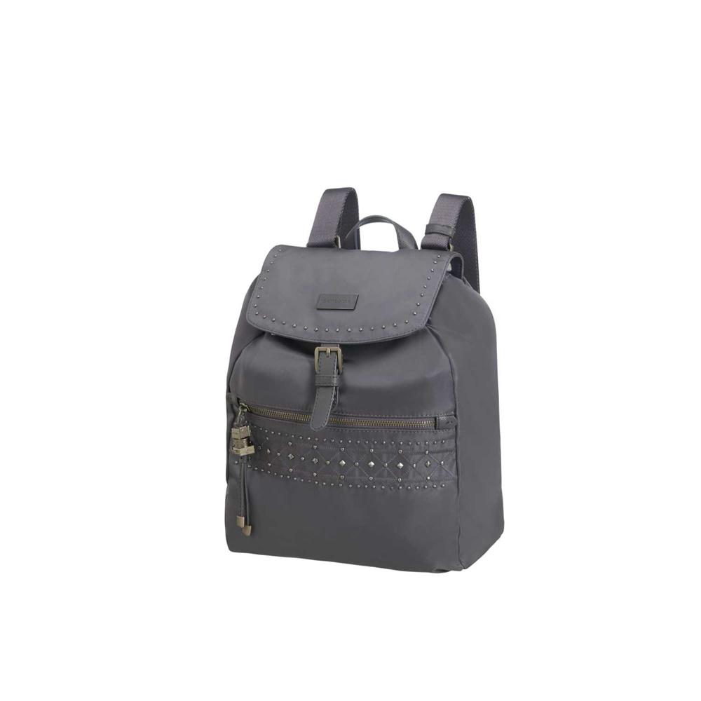 SAMSONITE – Γυναικεία τσάντα πλάτης KARISSA γκρι. Factory Outlet 4cb3ac315fc