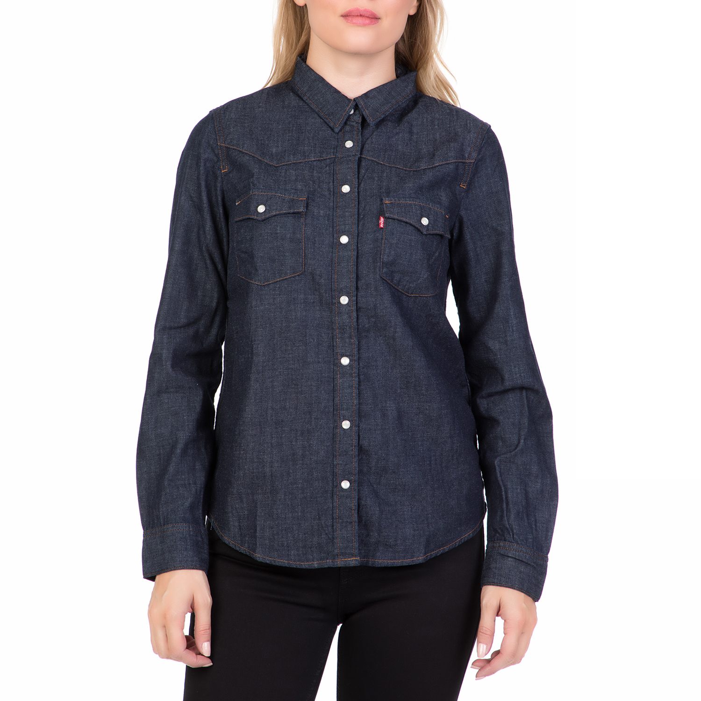 bb2bdf975ff0 LEVI S – Γυναικείο τζιν πουκάμισο LEVI S MODERN WESTERN AUTHENTIC μπλε  σκούρο
