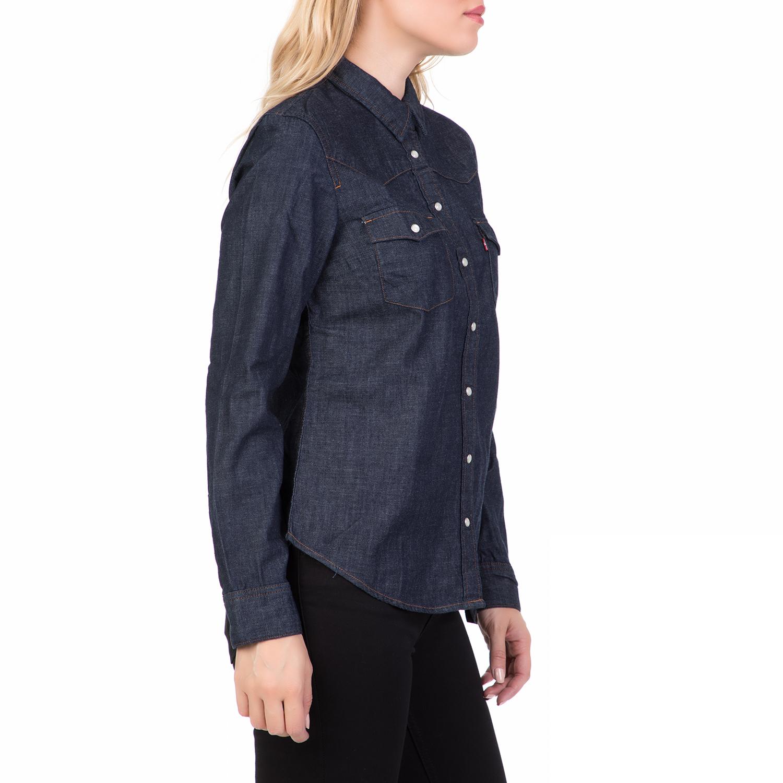 924da4ac7a85 LEVI S - Γυναικείο τζιν πουκάμισο LEVI S MODERN WESTERN AUTHENTIC μπλε  σκούρο