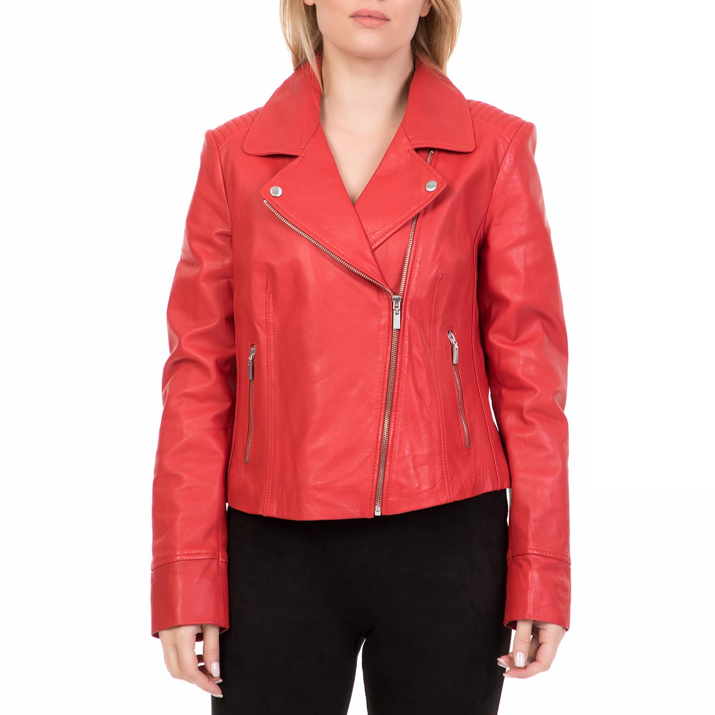 ARMA MAYS & ROSE - Γυναικείο δερμάτινο μπουφάν GOMERA Sheep Denvey κόκκινο γυναικεία ρούχα πανωφόρια δερμάτινα τζάκετς