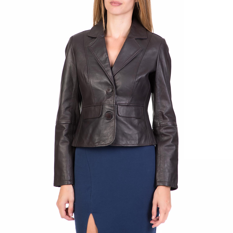 ARMA MAYS & ROSE - Γυναικείο δερμάτινο σακάκι ARMA MAYS & ROSE καφέ γυναικεία ρούχα πανωφόρια σακάκια
