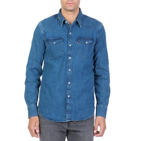 c5315e2362f4 Ανδρικό τζιν πουκάμισο LEVI S BARSTOW WESTERN BROOKLYN μπλε  (1713972.0-0013)