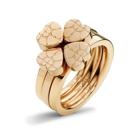 5bfadb2eab Σετ από τρία δαχτυλίδια FOLLI FOLLIE H4H SWEETHEART ροζ-χρυσά  (1714536.0-0000)