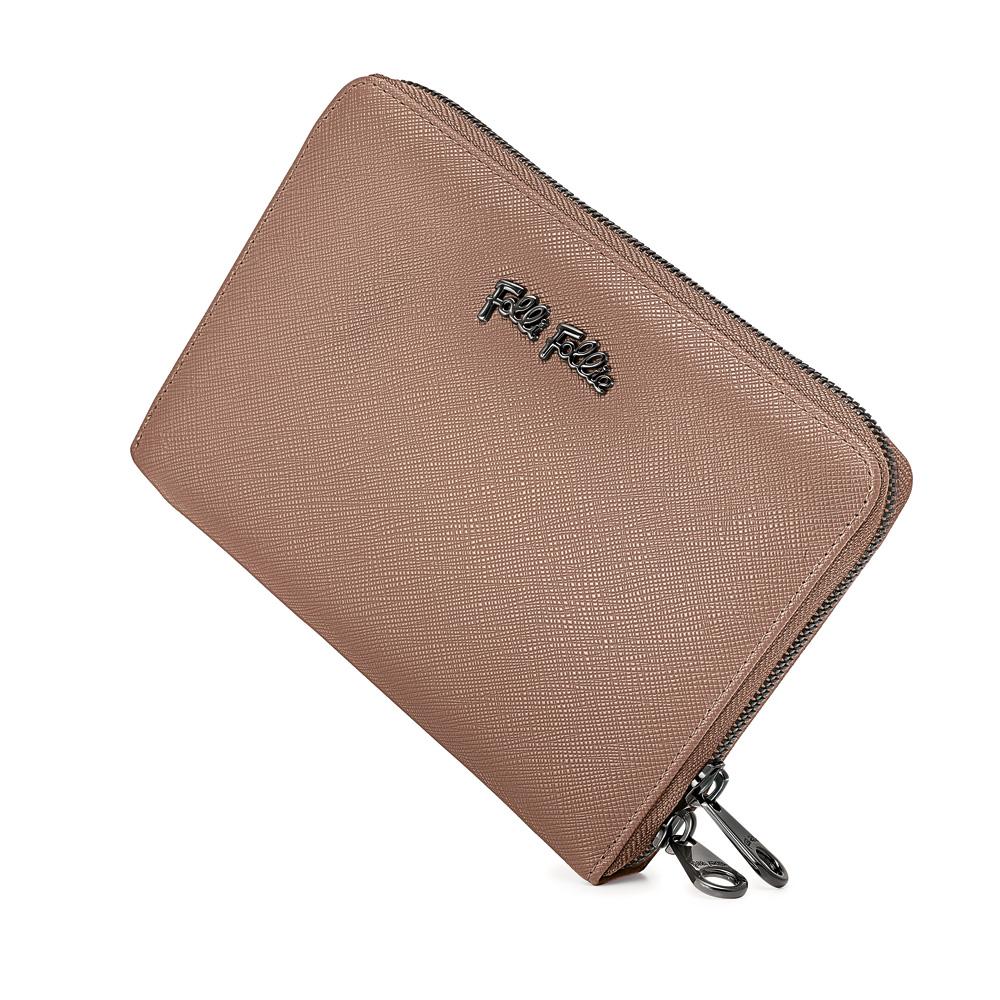 ee01c53e45 FOLLI FOLLIE – Γυναικείο μεγάλο πορτοφόλι με φερμουάρ FOLLI FOLLIE μπεζ