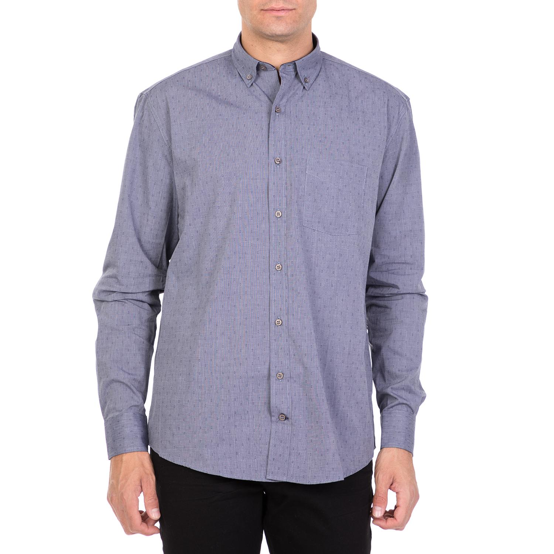 86c03c6bb865 HAMPTONS – Ανδρικό μακρυμάνικο πουκάμισο HAMPTOTNS MICRODESIGN μπλε ...