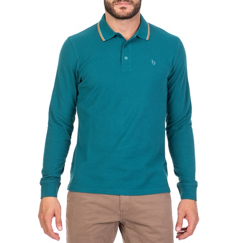 2bc2fe1090a6 Ανδρική μακρυμάνικη μπλούζα πόλο BATTERY πράσινη (1715746.0-0060 ...