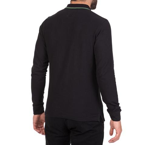 24c805d376dc Ανδρική μακρυμάνικη μπλούζα πόλο BATTERY μαύρη (1715746.0-0071 ...
