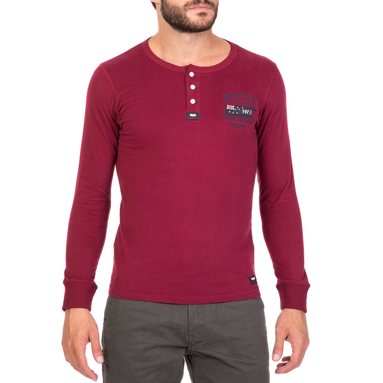 ad09a817738d GREENWOOD - Ανδρική μακρυμάνικη μπλούζα GREENWOOD μπορντό