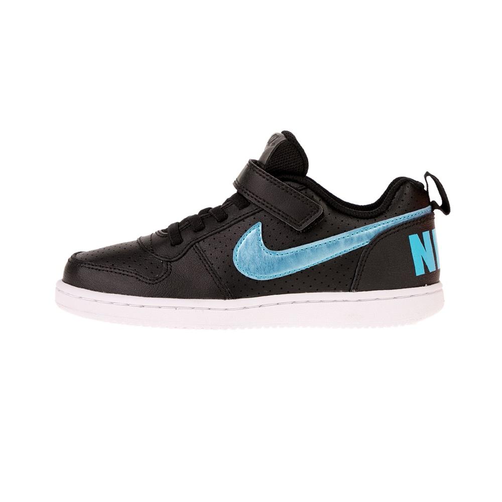NIKE – Παιδικά αθλητικά παπούτσια COURT BOROUGH LOW EP (PSV) μαύρα μπλε