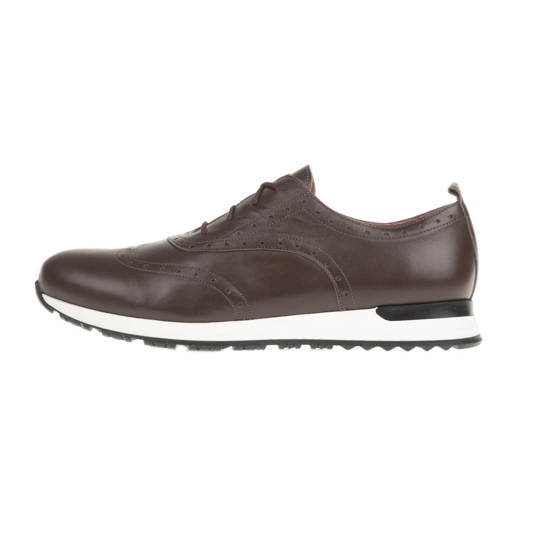 CHANIOTAKIS – Ανδρικά δετά casual παπούτσια CHANIOTAKIS SPORT NAPPA καφέ ddf4e3ac2f9