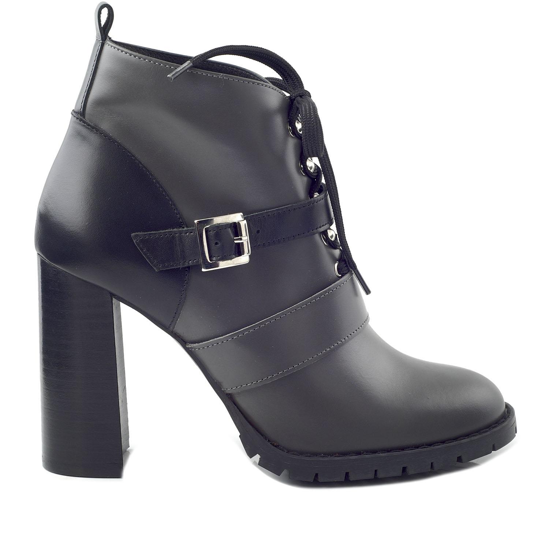 CHANIOTAKIS – Γυναικεία ankle μποτάκια CHANIOTAKIS SIERRA 34660 γκρι-μαύρα