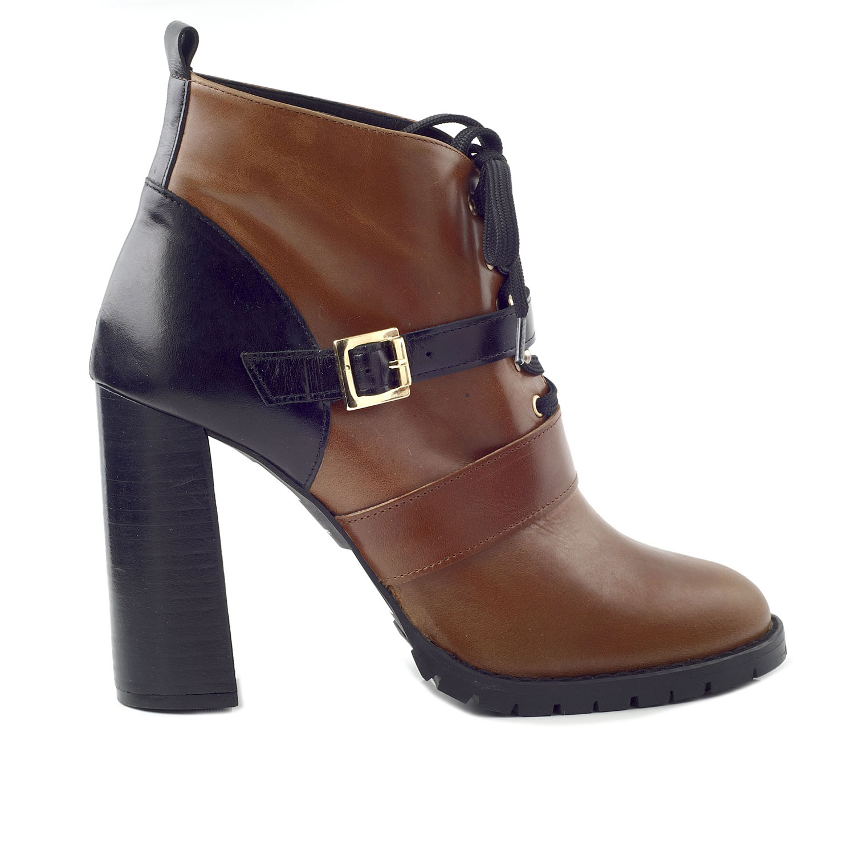 CHANIOTAKIS – Γυναικεία ankle μποτάκια CHANIOTAKIS SIERRA 34660 SIERRA 34660 καφέ-μαύρα