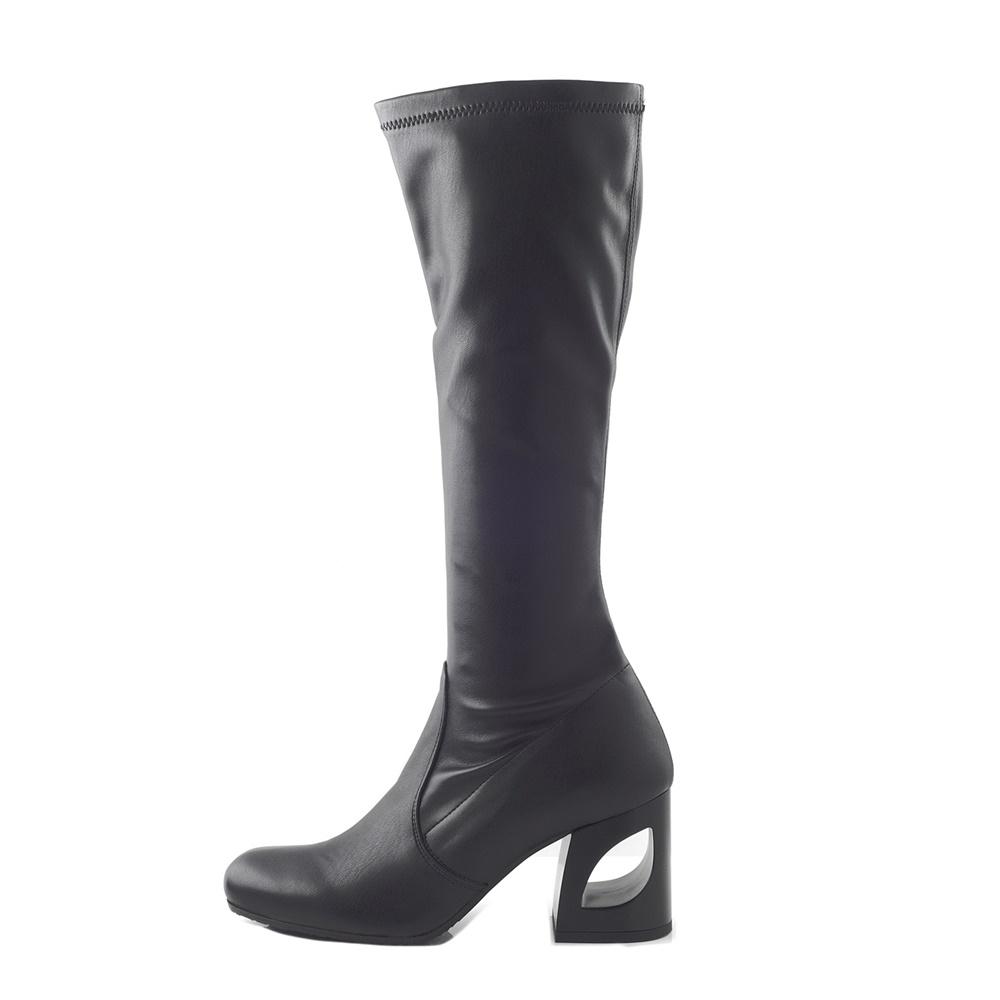 CHANIOTAKIS – Γυναικείες μπότες CHANIOTAKIS NAPPA ELASTICO 9330 μαύρες