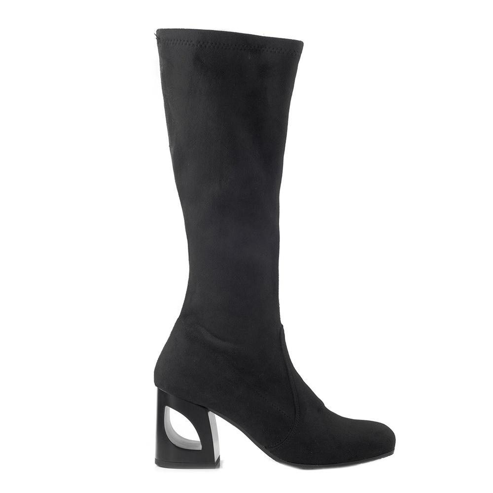 CHANIOTAKIS – Γυναικείες μπότες CHANIOTAKIS SUEDE ELASTICO 9330 μαύρες b949ca7ce8d