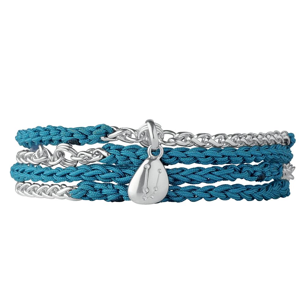 LINKS OF LONDON - Γυναικείο βραχιόλι Chm Wrap Blt μπλε γυναικεία αξεσουάρ κοσμήματα βραχιόλια