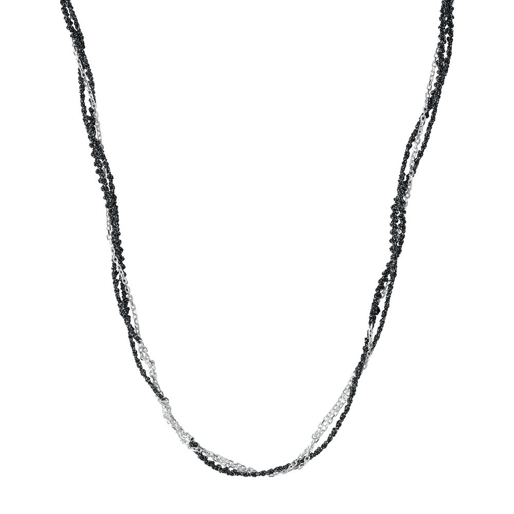 LINKS OF LONDON - Ασημένιο κολιέ BLK/SILV CORD γυναικεία αξεσουάρ κοσμήματα κολιέ