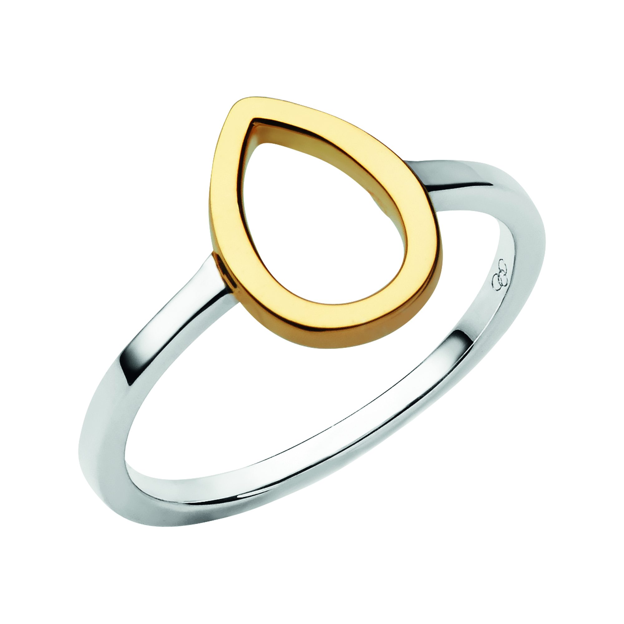 LINKS OF LONDON - Ασημένιο επιχρυσωμένο δαχτυλίδι Flare - μέγεθος 56 γυναικεία αξεσουάρ κοσμήματα δαχτυλίδια