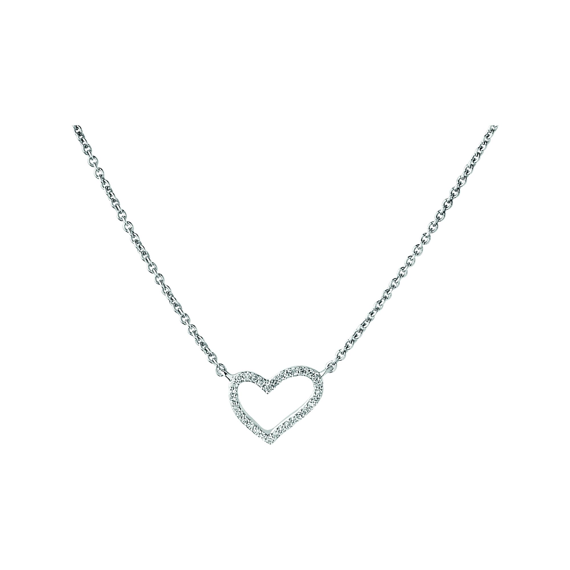 LINKS OF LONDON - Ασημένιο κολιέ Outlet N Heart γυναικεία αξεσουάρ κοσμήματα κολιέ