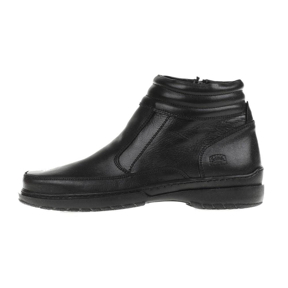 SOFT WALK – Ανδρικά δερμάτινα μποτάκια SOFT WALK μαύρα