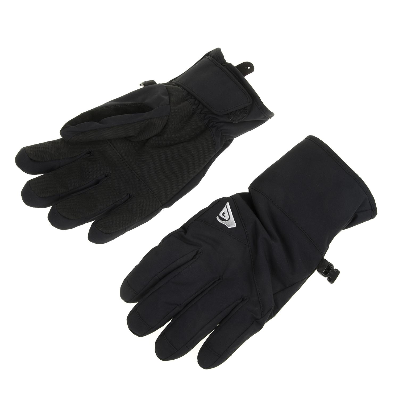 QUIKSILVER - Ανδρικά γάντια CROSS μαύρα ανδρικά αξεσουάρ φουλάρια κασκόλ γάντια