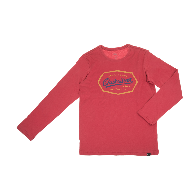 1ff84ce6b205 QUIKSILVER - Παιδική μακρυμάνικη μπλούζα QUIKSILVER κόκκινη