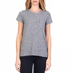 LEVI S. Γυναικεία κοντομάνικη μπλούζα LEVI S γκρι 63c0c7a50b9