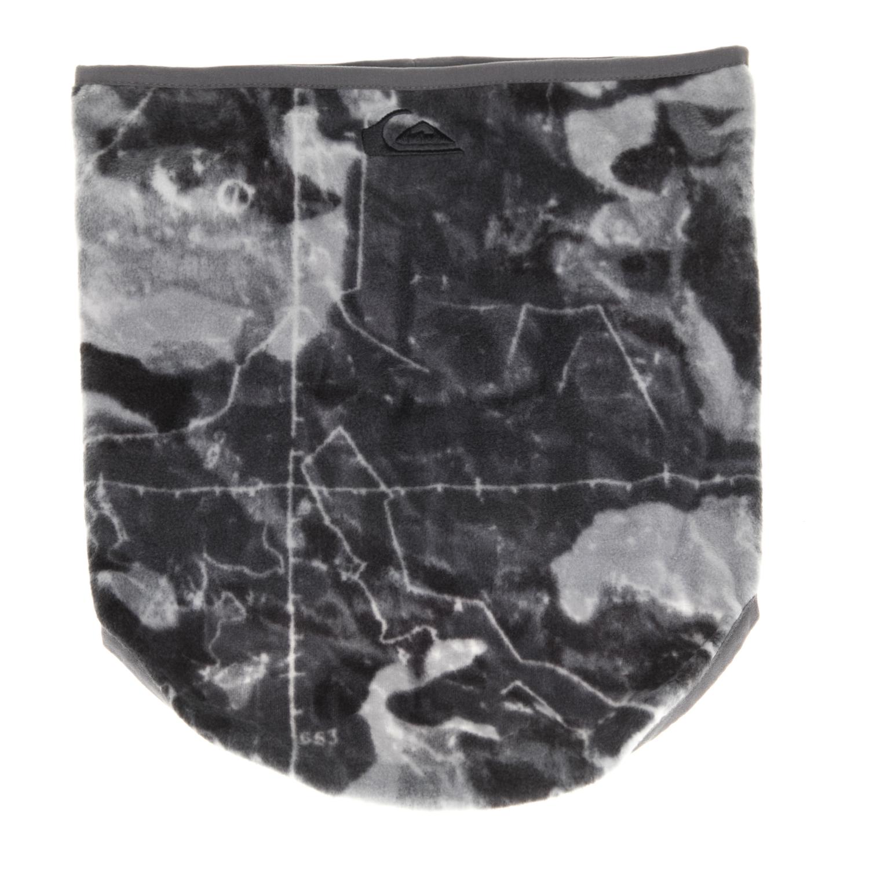 QUIKSILVER - Ανδρικό κολάρο CASPER γκρι με print ανδρικά αξεσουάρ φουλάρια κασκόλ γάντια