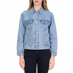 0a75736f0ee5 LEVI S. Γυναικείο τζιν jacket LEVI S EXBOYFRIEND TRUCKER WILDFLOWER μπλε