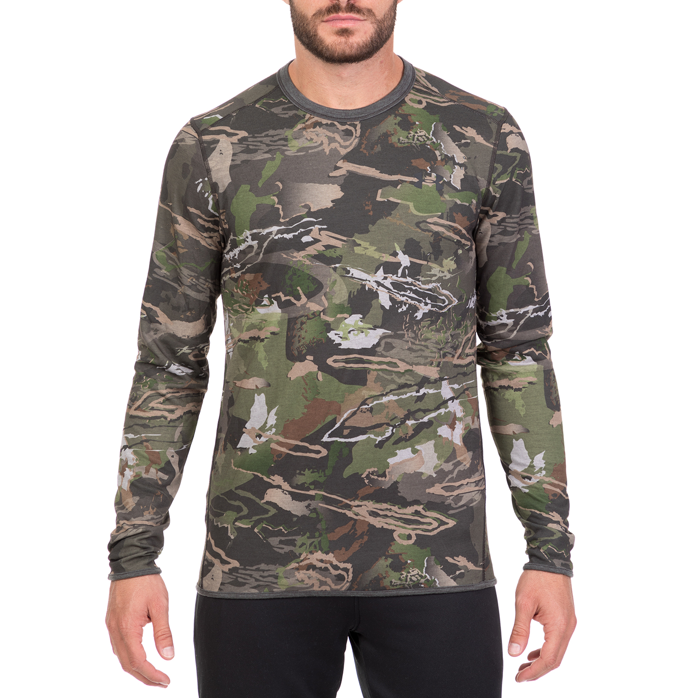UNDER ARMOUR - Ανδρική μακρυμάνικη αθλητική μπλούζα UNDER ARMOUR Mid Season καφέ ανδρικά ρούχα αθλητικά φούτερ μακρυμάνικα