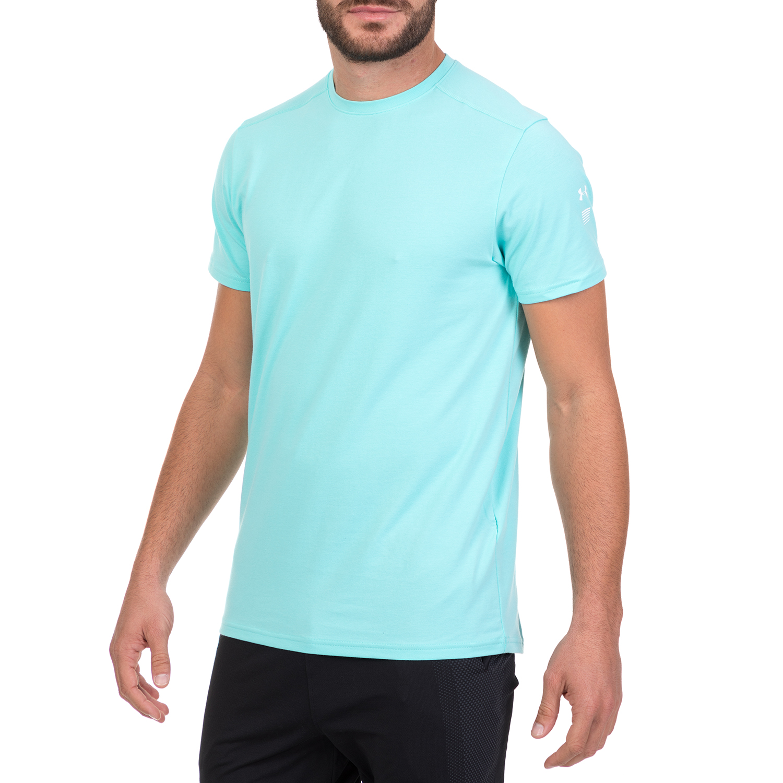 4f39473c0e4c UNDER ARMOUR - Ανδρική αθλητική κοντομάνικη μπλούζα UNDER ARMOUR RUN BACK  GRAPHIC γαλάζια