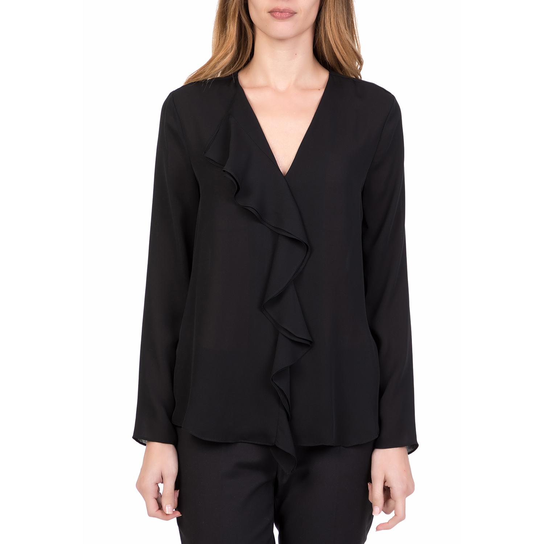 e4453edef279 SILVIAN HEACH – Γυναικεία μακρυμάνικη μπλούζα με βολάν TIULADA SILVIAN  HEACH μαύρη