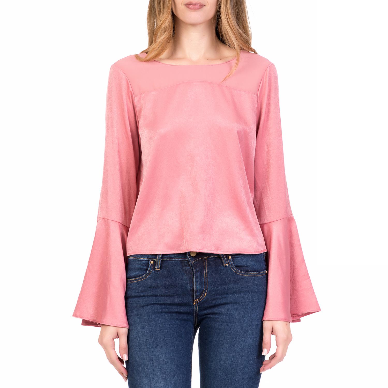 SILVIAN HEACH - Γυναικεία μακρυμάνικη μπλούζα με βολάν TEMPERLIA SILVIAN  HEACH ροζ 1267f70fca7
