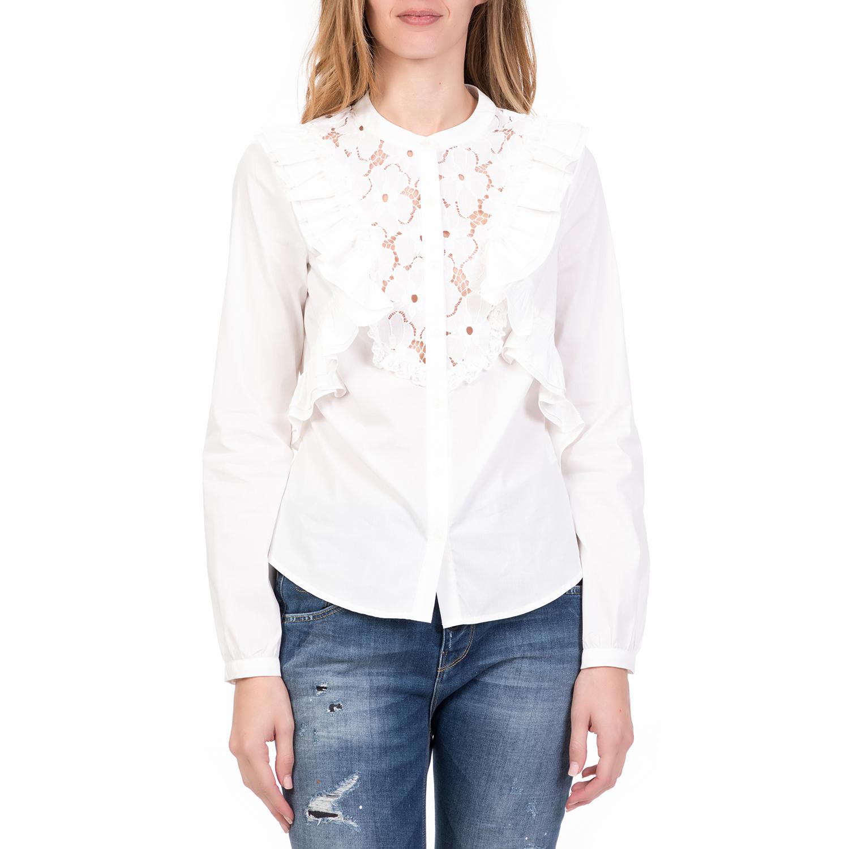 SILVIAN HEACH - Γυναικείο μακρυμάνικο πουκάμισο CABANES SILVIAN HEACH λευκό