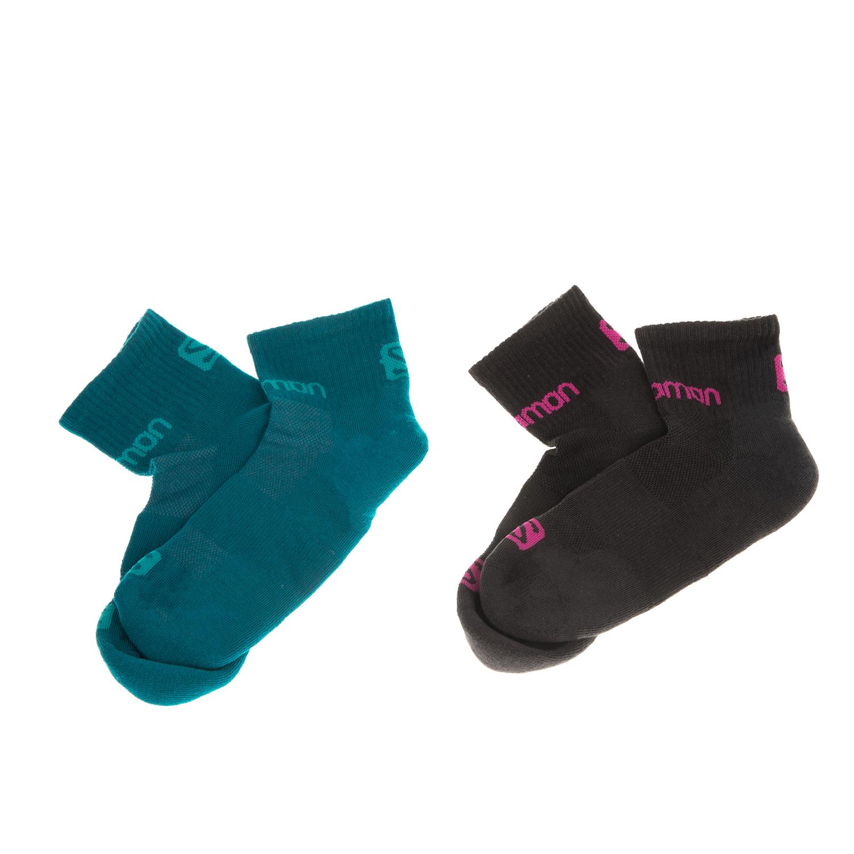SALOMON - Σετ unisex κάλτσες SALOMON HIKING EVASION 2-PACK πετρόλ-μαύρες γυναικεία αξεσουάρ κάλτσες
