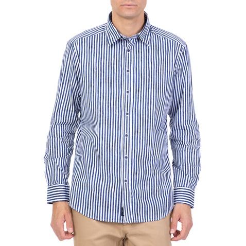 a63d40ba4b84 Ανδρικό μακρυμάνικο ριγέ πουκάμισο HAMPTONS μπλε-λευκό (1719295.0-1191)