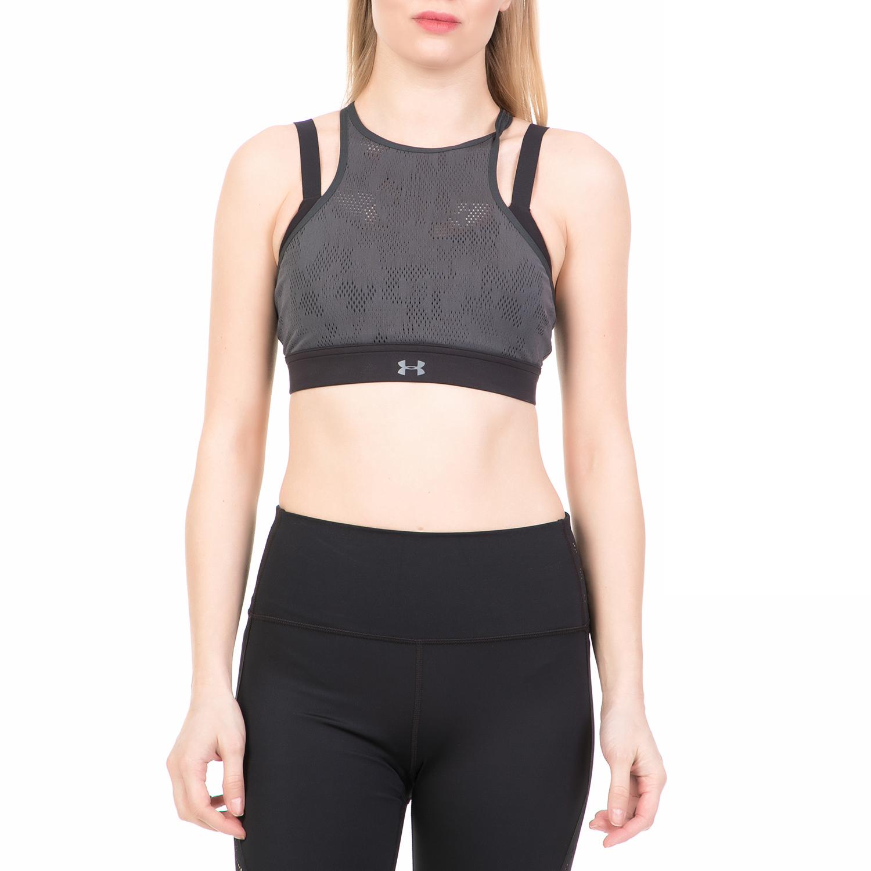 ad0932274209 UNDER ARMOUR - Γυναικείο αθλητικό μπουστάκι BALANCE MESH MID UNDER ARMOUR  γκρι