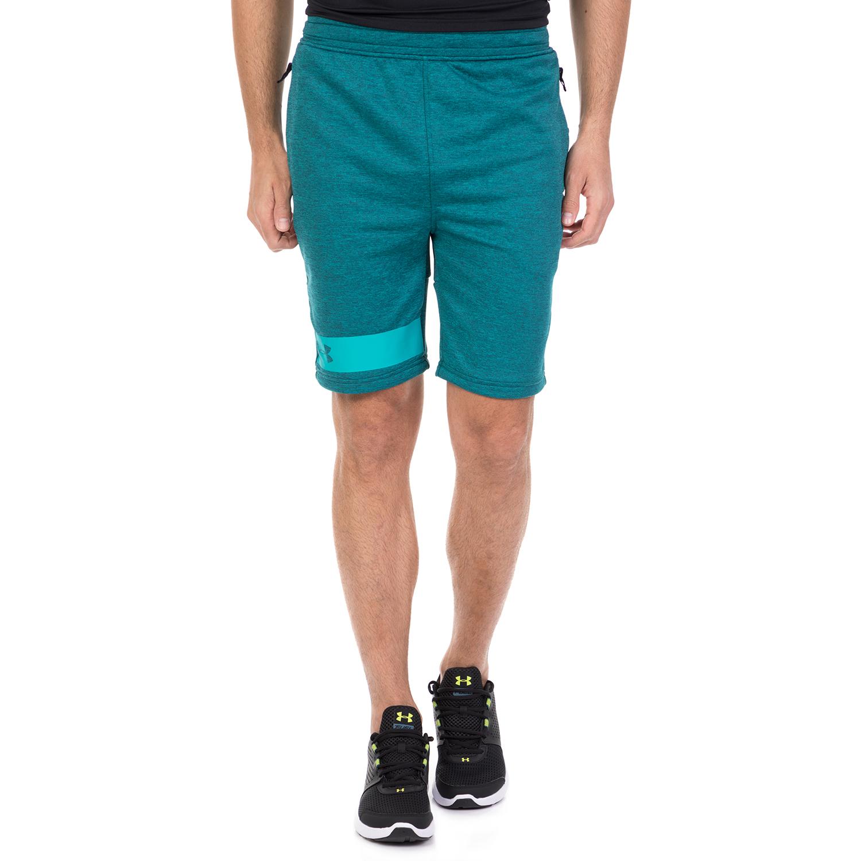 UNDER ARMOUR - Ανδρική βερμούδα UNDER ARMOUR MK1 Terry πράσινη ανδρικά ρούχα σορτς βερμούδες αθλητικά