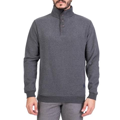 Ανδρική φούτερ μπλούζα με ψηλό γιακά DORS γκρι (1719495.0-0014 ... 7f7bd894a55
