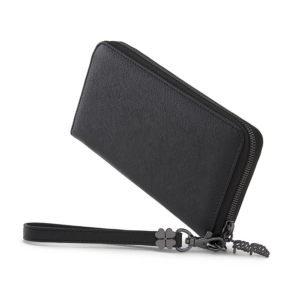 FOLLI FOLLIE - Γυναικείο πορτοφόλι με φερμουάρ FOLLI FOLLIE μαύρο γυναικεία αξεσουάρ πορτοφόλια μπρελόκ πορτοφόλια